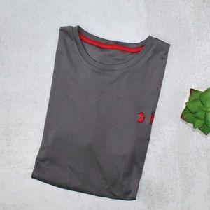 Under Armour Mens Gray Short Sleeve Athletic Shirt